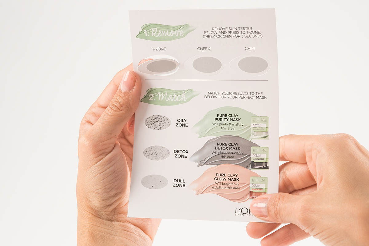 Skin Type Test L'Oreal - Remove of T-Zone with two Hands | USP Solutions