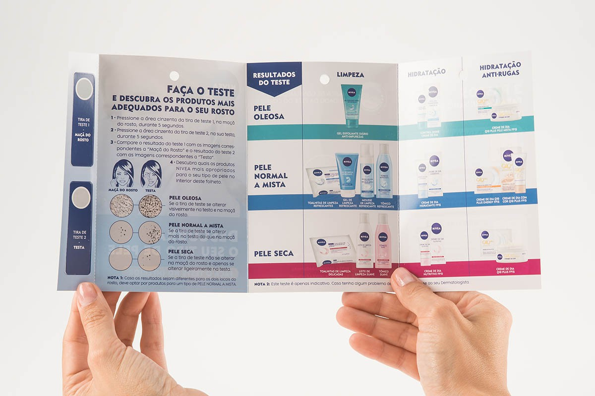 Brand Activation - Unfolded Skin Type Test | USP Solutions