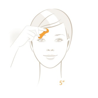 Oil Control Test - Take before test and press blue area onto forehead or cheek - Step 1 | USP Solutions