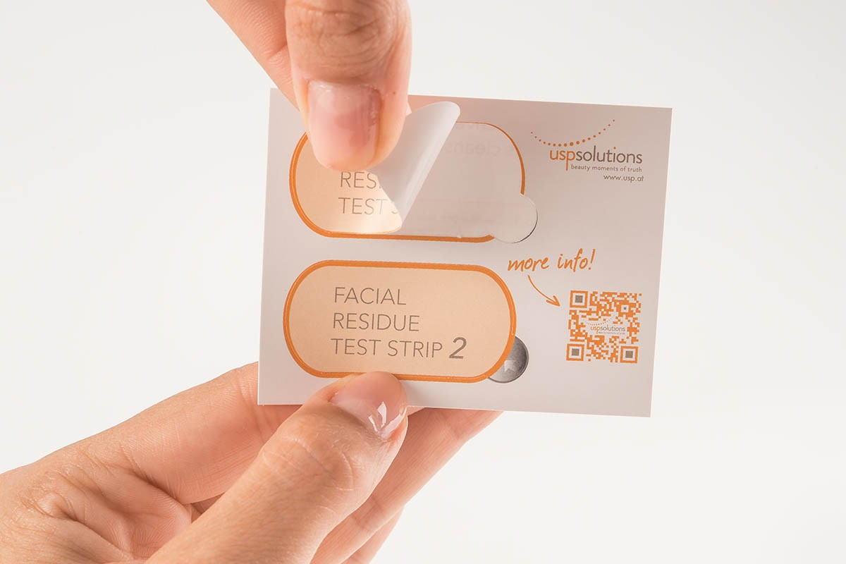Facial Residue Test - Take out test strip 1 | USP Solutions