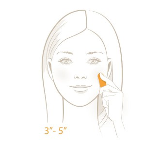 Facial Residue Test - Step 3 - Press test strip onto skin | USP Solutions