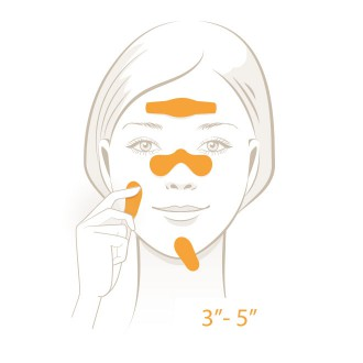 Acne risk Test - Press test strip onto skin - Step 2 | USP Solutions