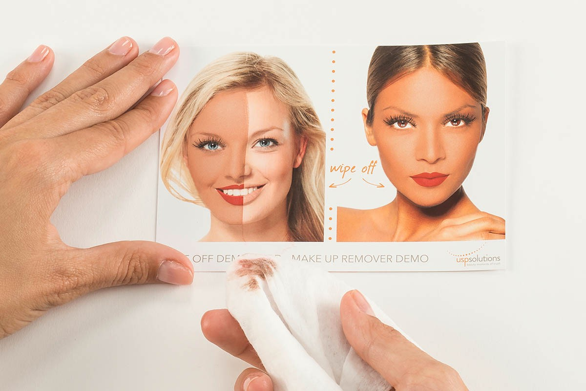 Make-Up Removal Demo Tool - two woman faces | USP Solutions