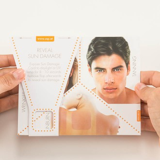 Reveal Sun Damage Tool - Face of Man on Test Tool | USP Solutions