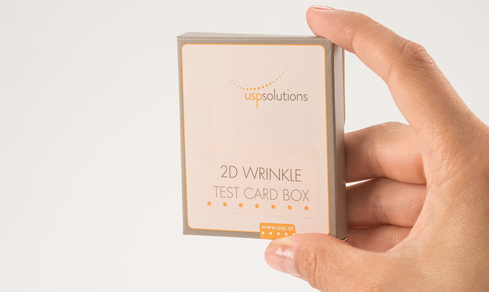 Direct Selling - 2D Wrinkle Test Card Box | USP Solutions
