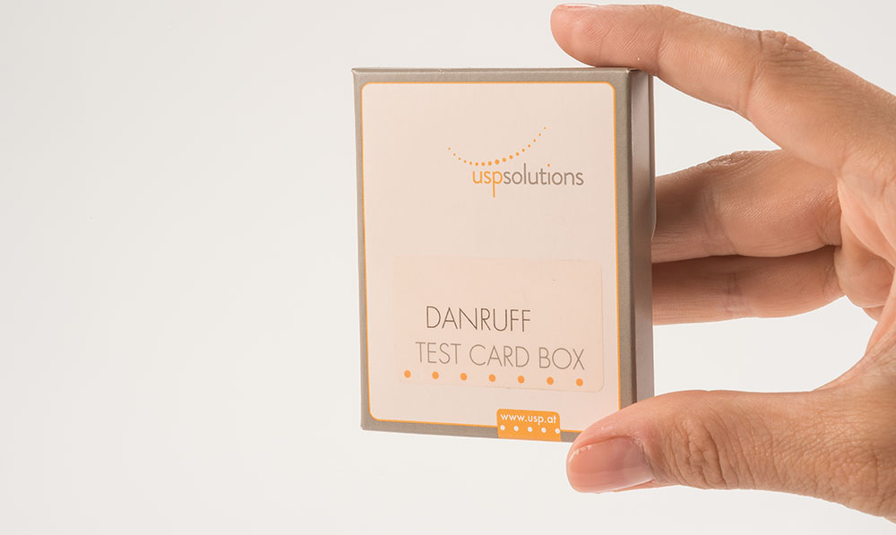 Direct Selling - Dandruff Test Card Box | USP Solutions