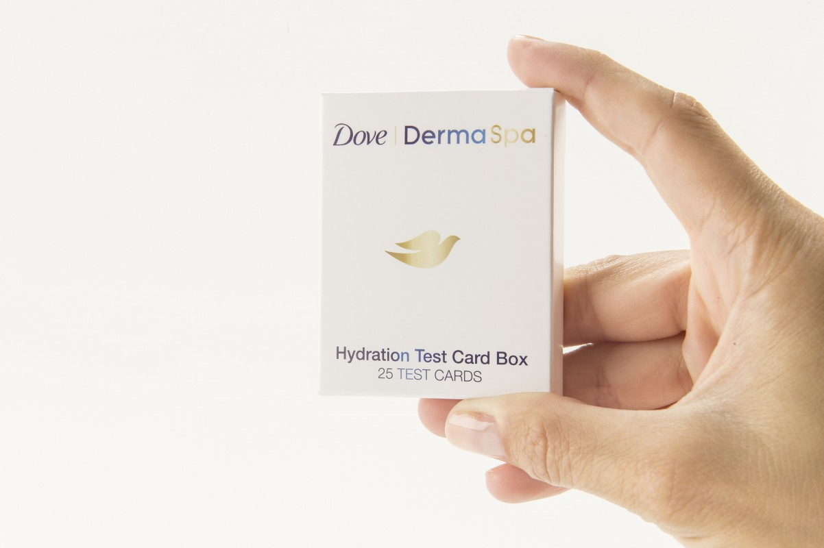 dove dermaspa hydration test