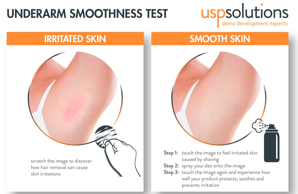 underarm smoothness test