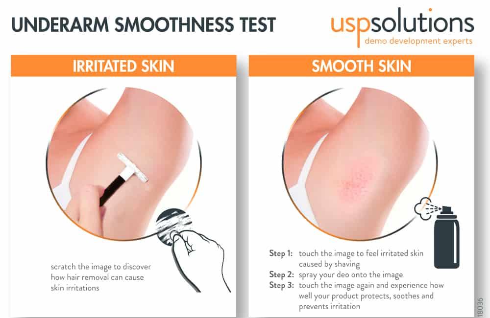 umderarm smoothness test